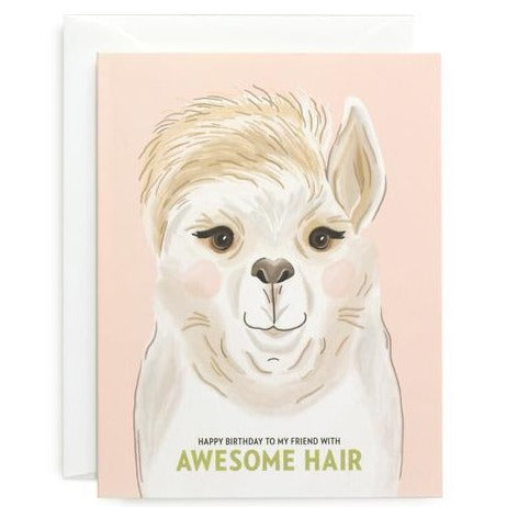 Awesome Hair Birthday Card - All She Wrote
