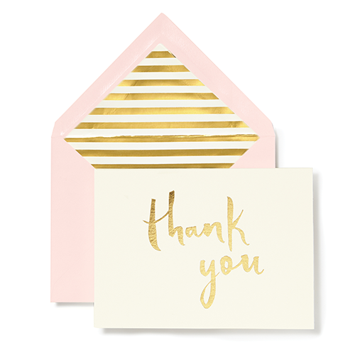 Kate Spade Paint Brush Thank You Boxed Stationery