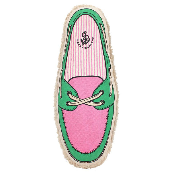 Harry Barker Pink Boat Shoe Dog Toy