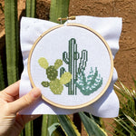 Desert Cacti Cross Stitch Kit - All She Wrote