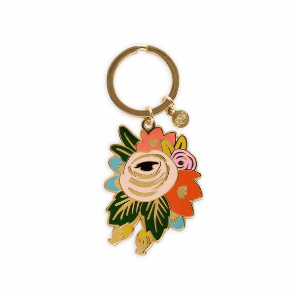 Enamel Rosa Keychain - All She Wrote