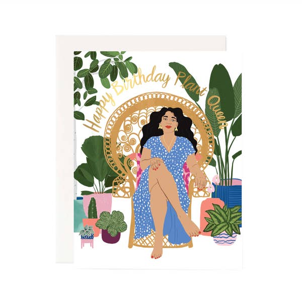 Plant Queen Birthday Card
