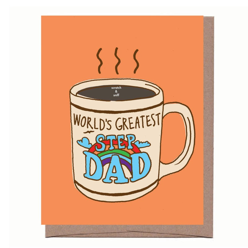 Scratch & Sniff Step Dad Mug Card - All She Wrote