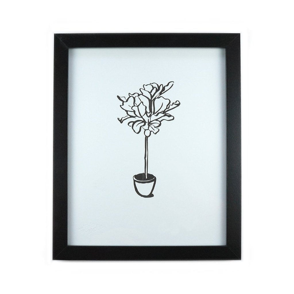 Fiddle Leaf Art Print - All She Wrote