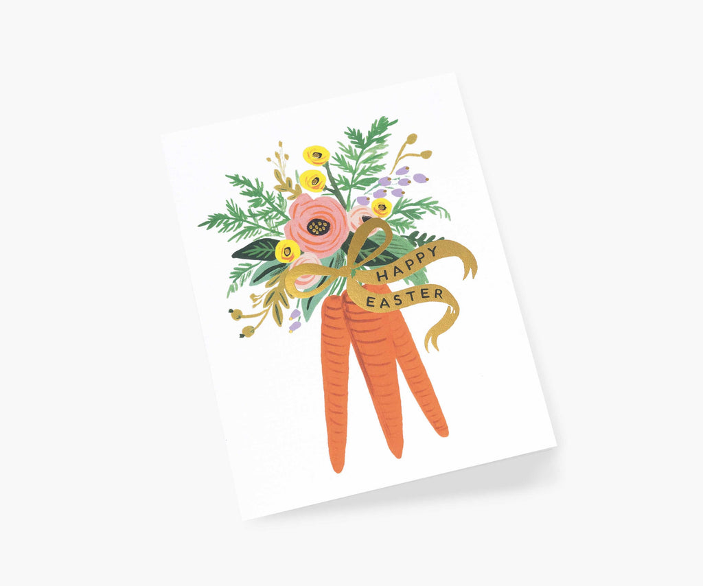 Carrot Bunch Easter Card - All She Wrote
