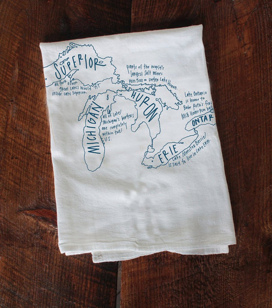 Chicago Tea Towel- Great Lakes - All She Wrote