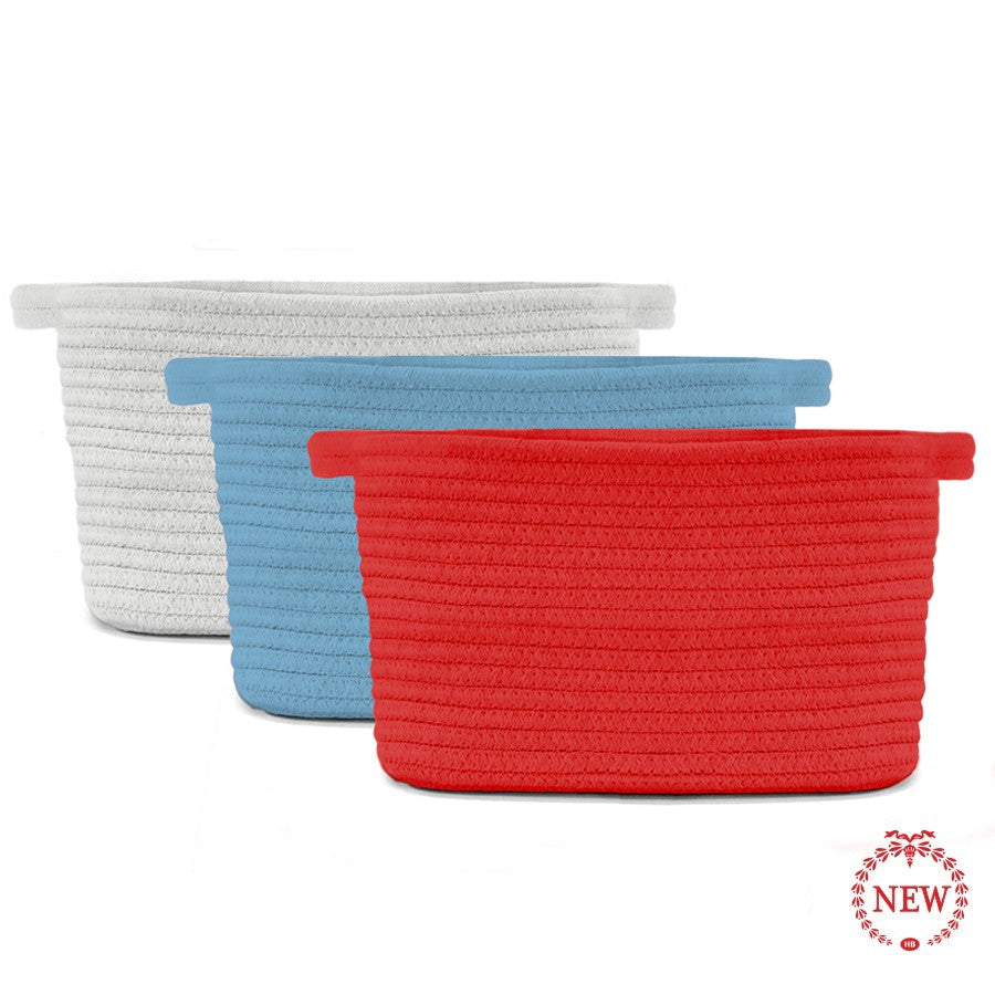 Cotton Rope Dog Storage Basket - All She Wrote