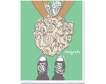 Sneaker Bouquet Card