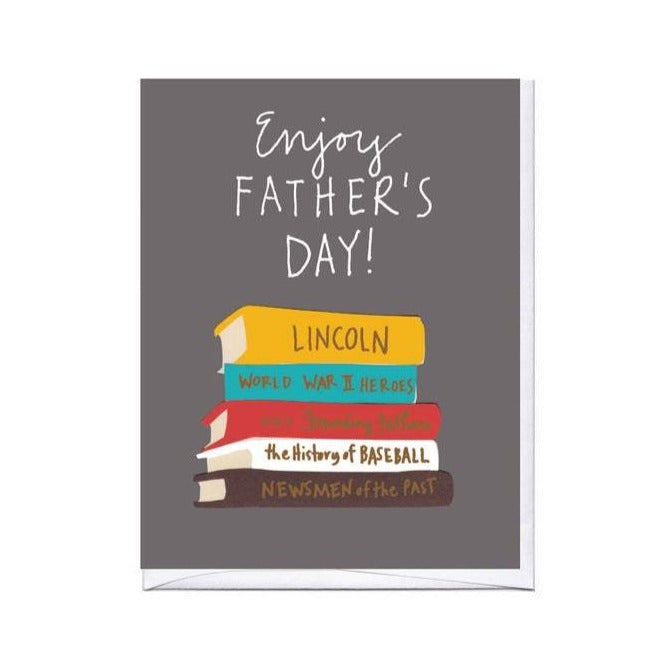 Dad Books Card - All She Wrote