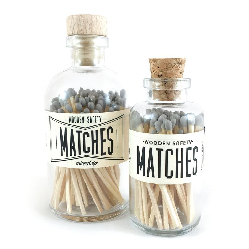 Gray Vintage Apothecary Matches - All She Wrote