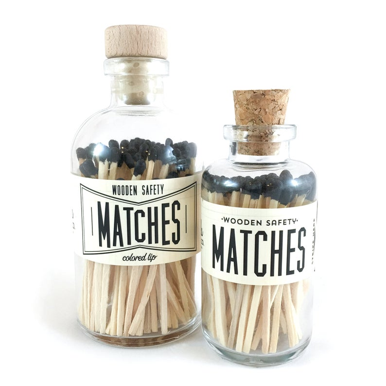 Black Vintage Apothecary Matches - All She Wrote