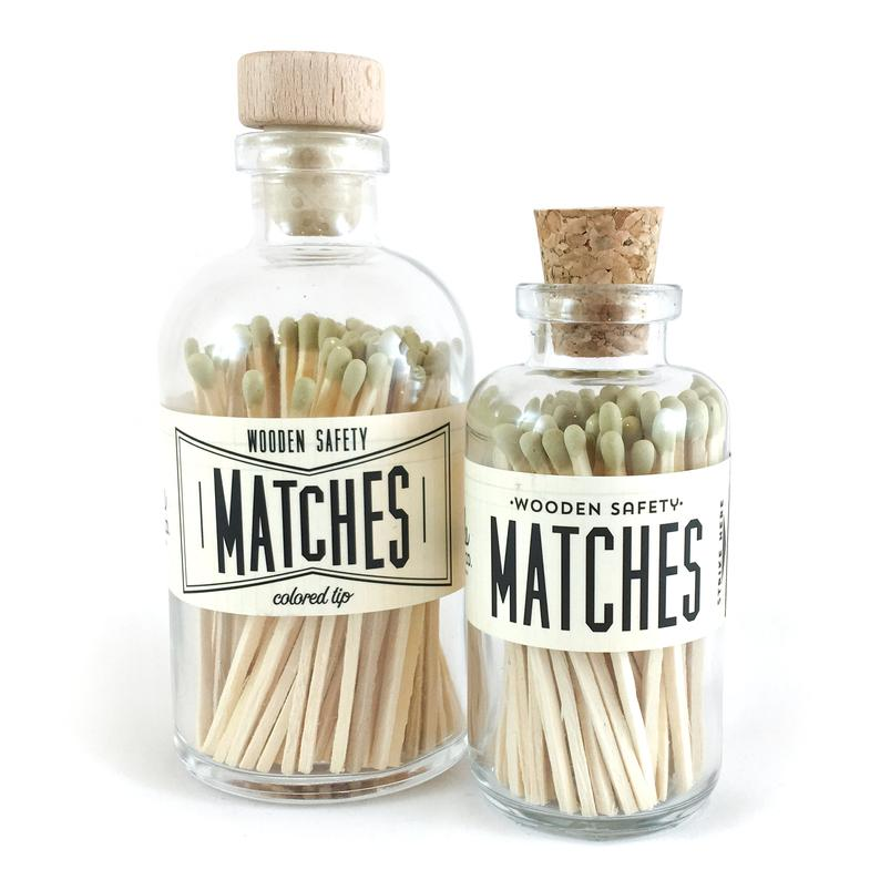 Gold Vintage Apothecary Matches - All She Wrote