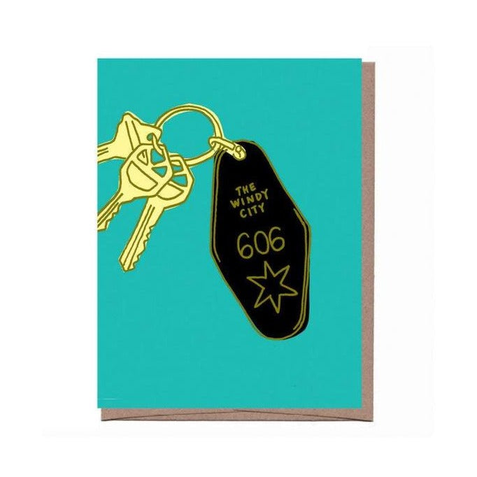 Windy City Keys Card - All She Wrote