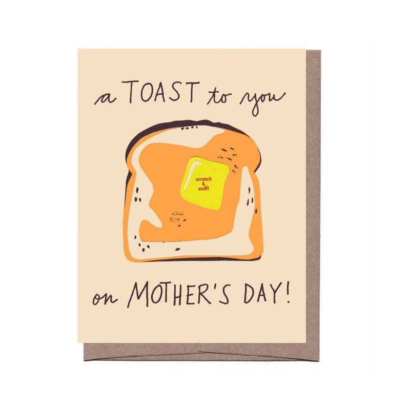 Scratch & Sniff Toast Card - All She Wrote