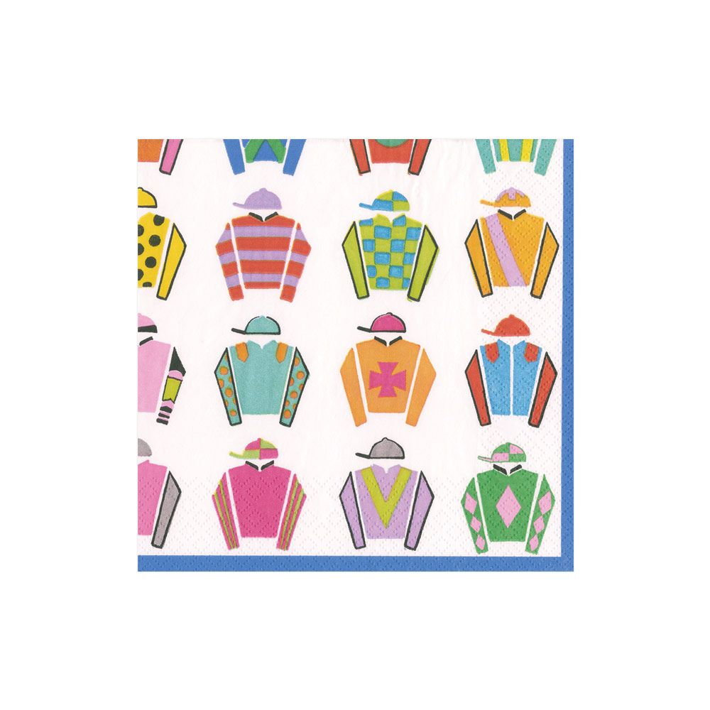 Jockey Silk Cocktail Napkins - All She Wrote