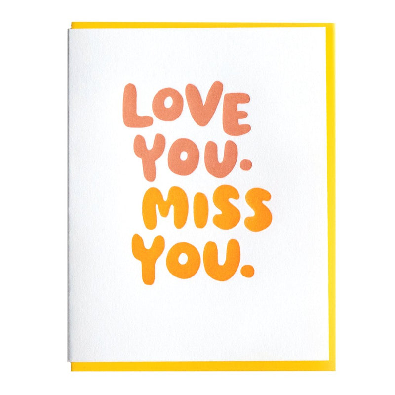Love You Miss You Card