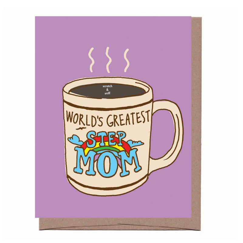 Scratch & Sniff Step Mom Mug Card - All She Wrote
