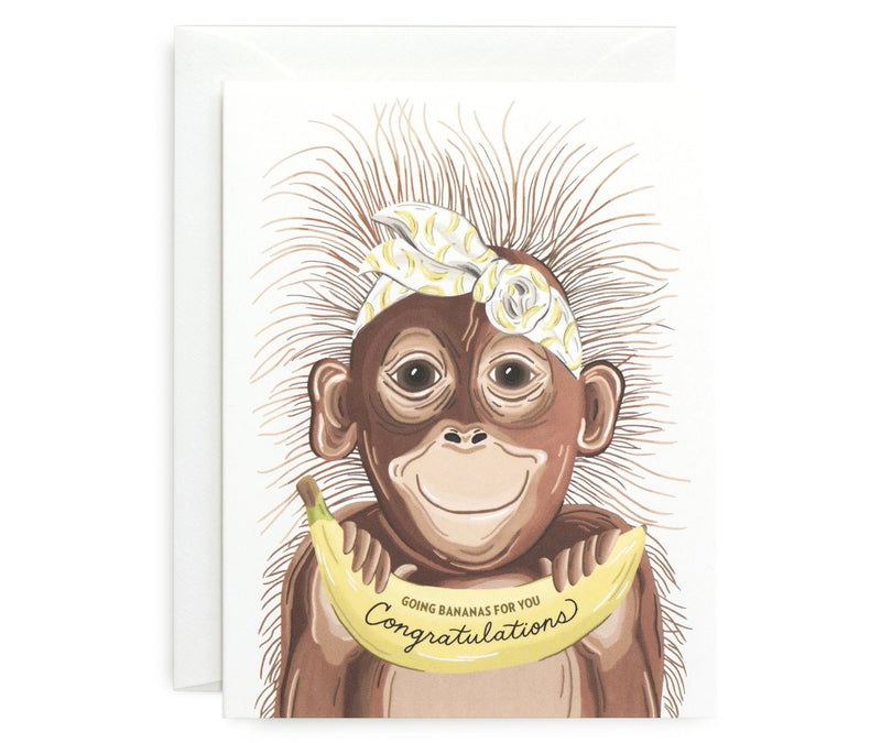Going Bananas Baby Card - All She Wrote