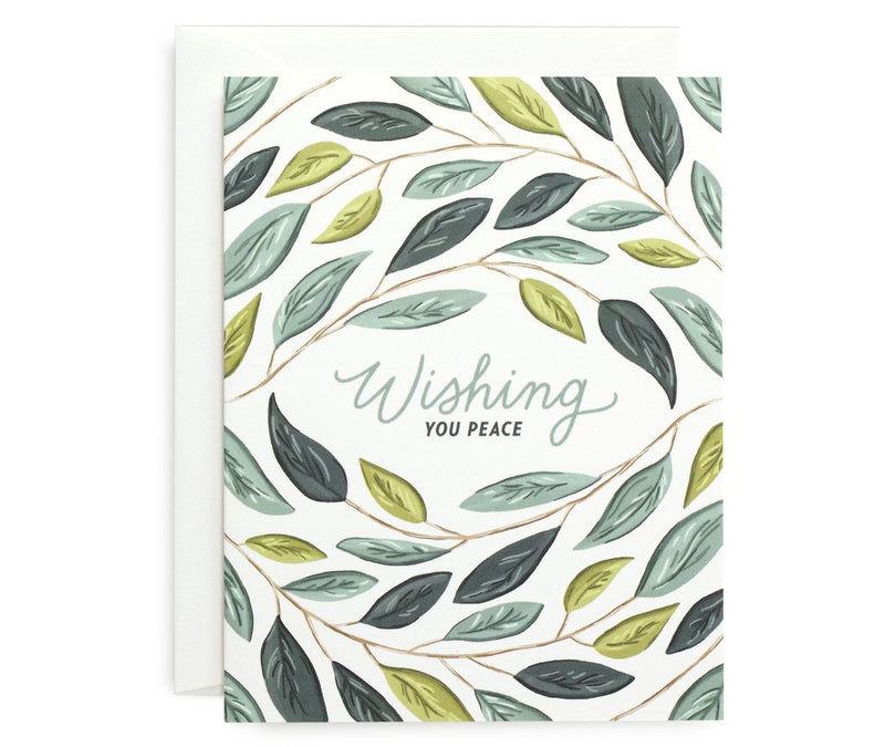 Wishing You Peace Card - All She Wrote