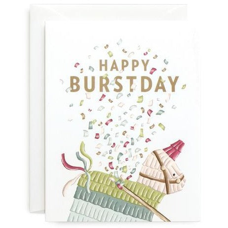 Happy Burstday Card - All She Wrote