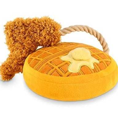Chicken and Waffles Dog Toy - All She Wrote