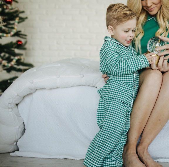 Green Gingham Pajama Set - All She Wrote
