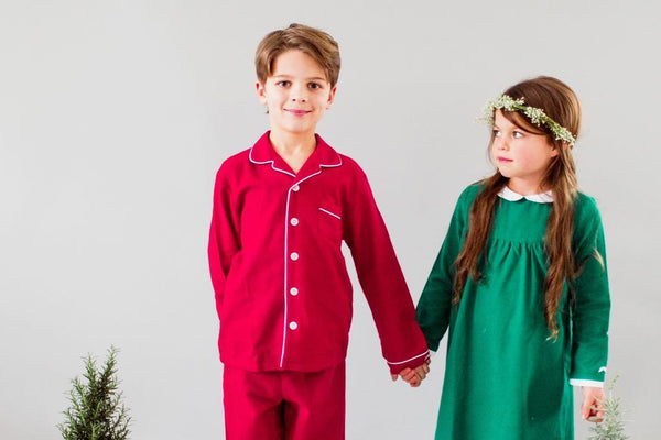 Petite Plume Red Flannel Pajama Set