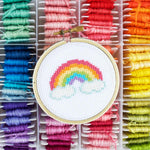 Rainbow Mini Cross Stitch Kit