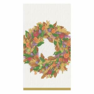 Autumn Wreath Guest Towel - All She Wrote