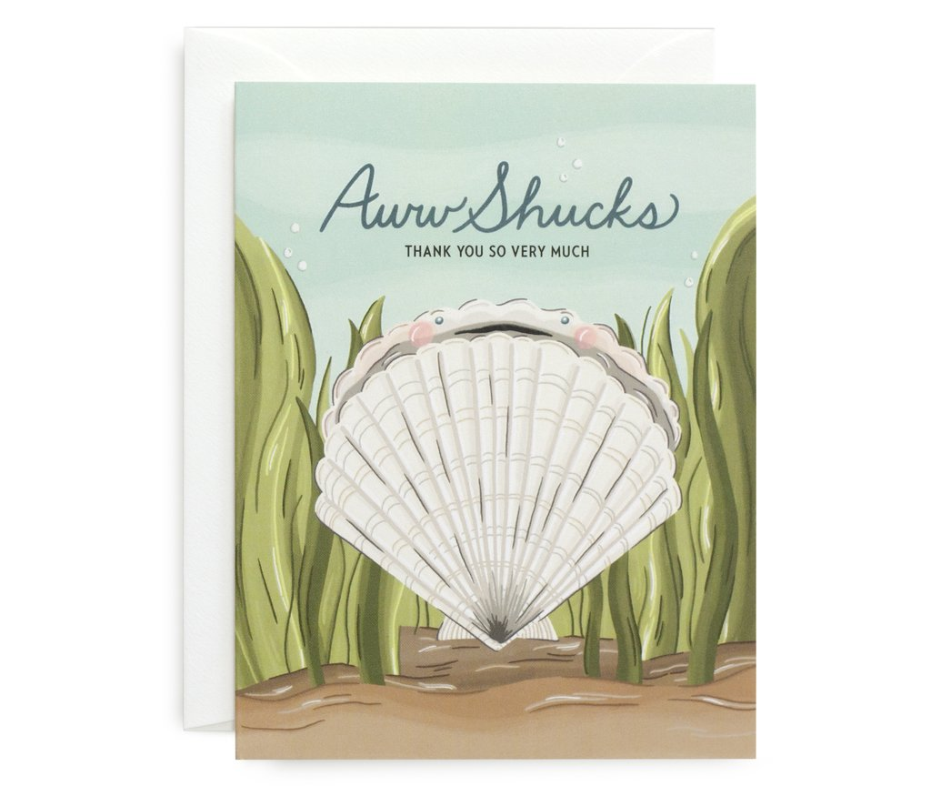 Scallop Shucks Card - All She Wrote