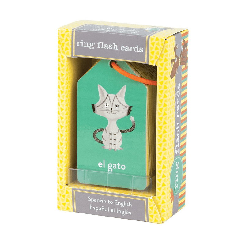 Spanish to English Flash Card Ring - All She Wrote