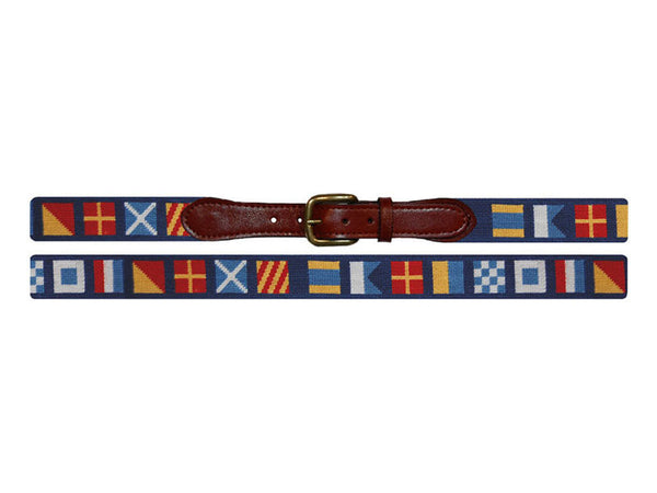 Smathers & Branson Needlepoint Belt- Dark n' Stormy - All She Wrote