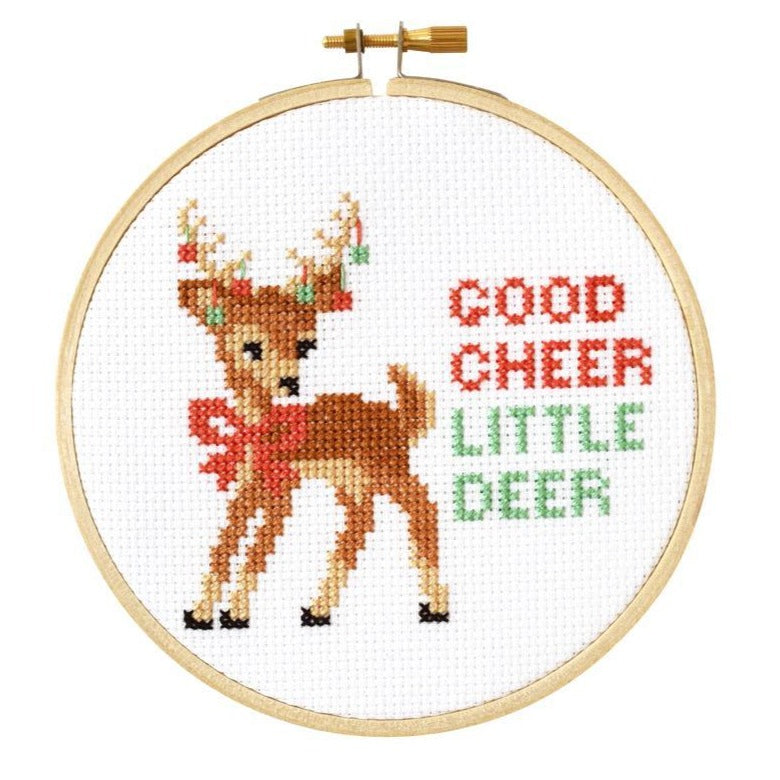 Good Cheer Cross Stitch Kit - All She Wrote