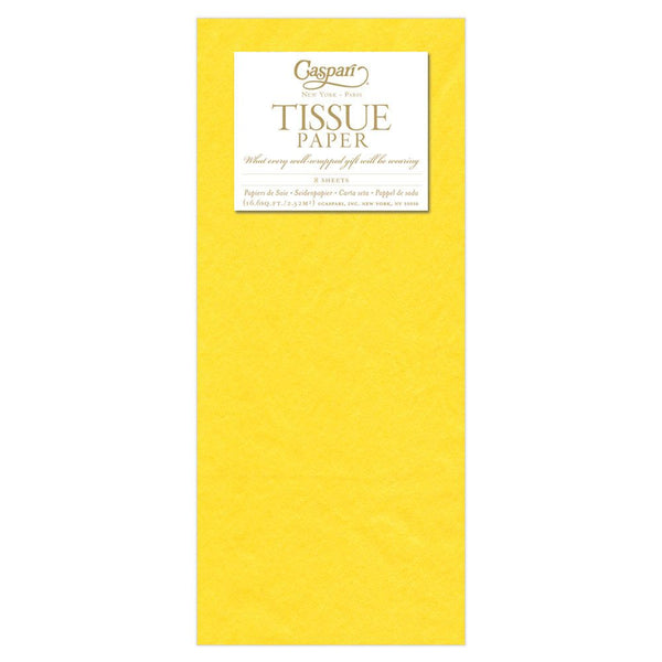 Caspari Yellow Tissue Paper - All She Wrote