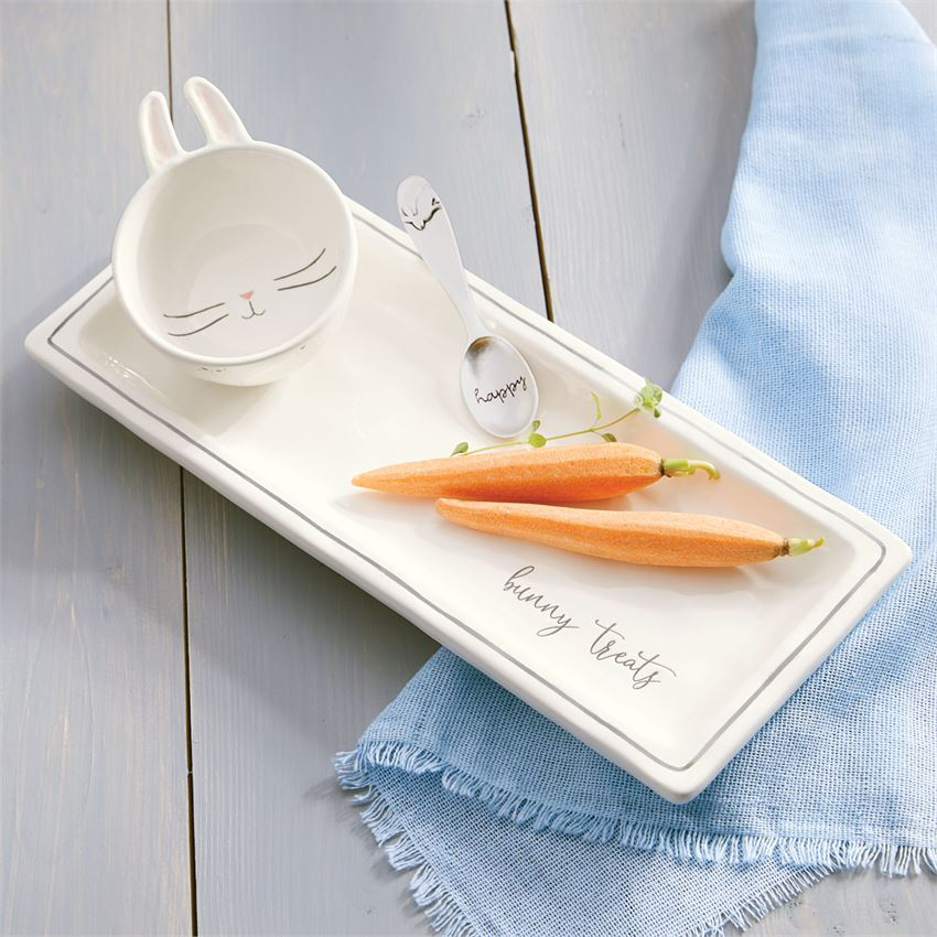Bunny Treats Tray Set - All She Wrote