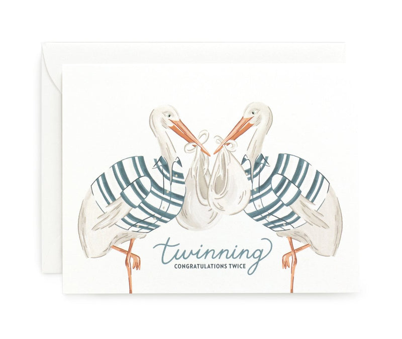 Twinning Baby Card - All She Wrote