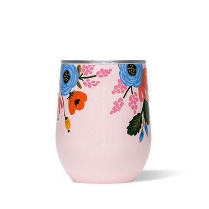 Pink Floral Stemless Wine Cup - All She Wrote