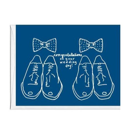 Bowties Wedding Card - All She Wrote
