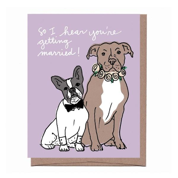 Wedding Dogs Card - All She Wrote