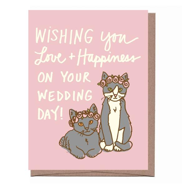 Wedding Cats Card - All She Wrote