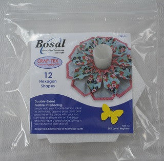 Craf-Tex Double Sided Fusible Hexagon Shapes
