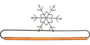 "Banner Hanger, 12"" Snowflake with Dowel"