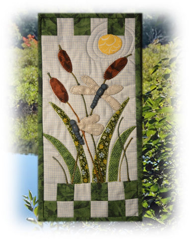 Finished Dragonfly Garden Banner