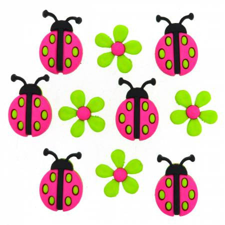 Ladybug Crossing Buttons