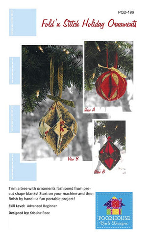Fold'n Stitch Holiday Ornaments