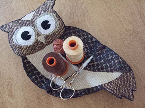 Finished Forest Friends Owl (fabrics in the kit may vary)