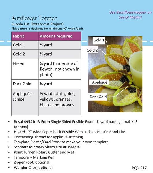 Sunflower Topper