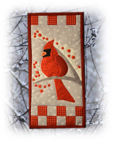Finished Winter Cardinal Banner