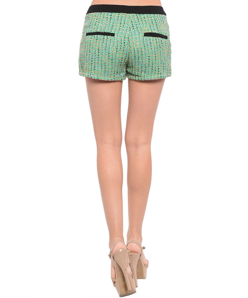 Mint Black Mini Shorts