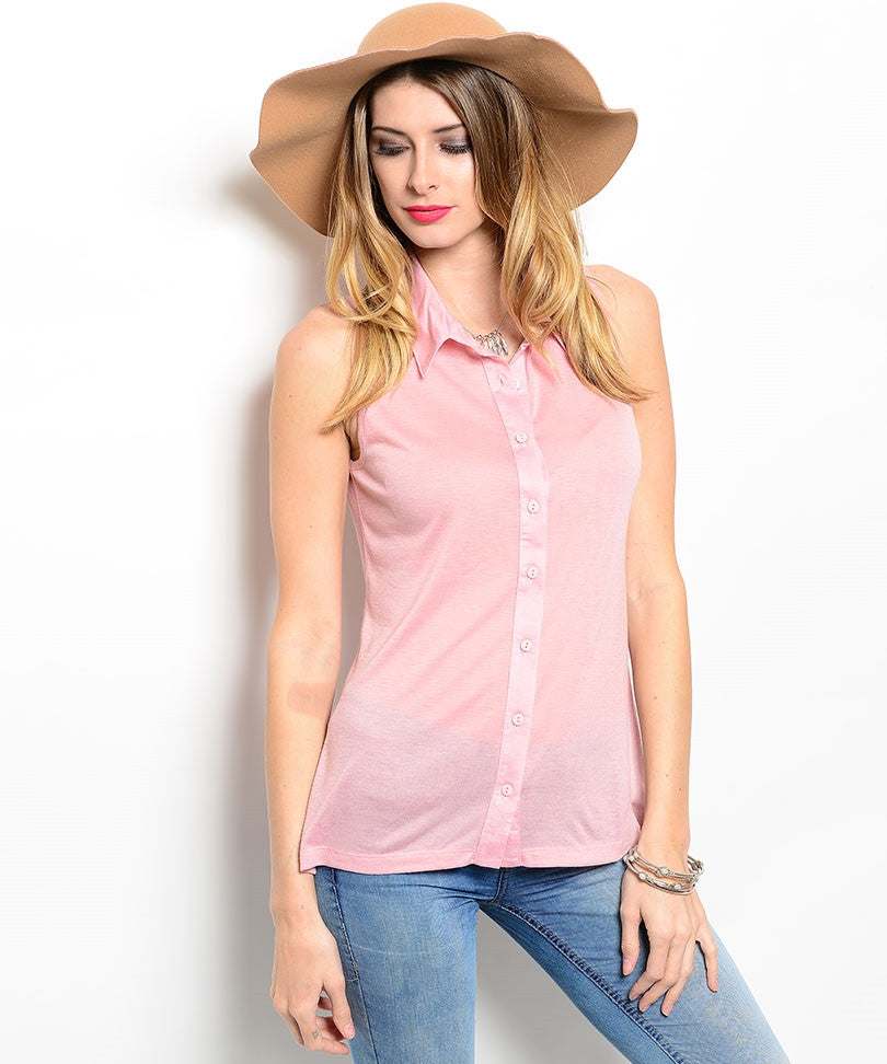 Rose Collared Top